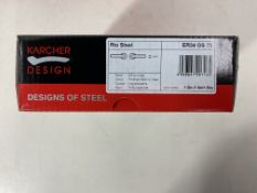 5 x Pairs of Karcher Design Door handle Rio Steel ER34-OS73 stainless steel matt/polished on rosette