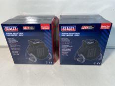 Pair Of Sealey Industrial PTC Fan Heater 230V PEH