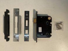 """4 x Zoo Hardware ZUKB76SS Bathroom Lock 3"""""""
