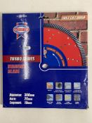 2 x Faithfull FAIDB300TURB Turbo Cut Diamond Blade 300mm x 20mm