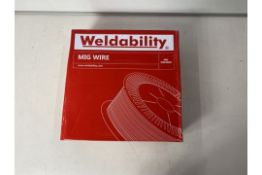 2 x Weldability Sif VZ180815LW A18/G3Si1 MIG Wire 0.8mm 15kg