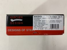 5 x Pairs of Karcher Design Door handle Rhodos ER28-OS71 stainless steel on rosette