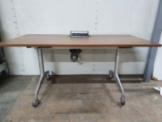Wooden Desk with 3 pin power sockets and ethernet port