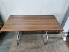 Folding Wheeled Wooden Desk