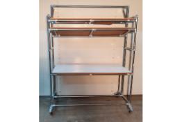 Wheeled Workstation (2 Shelf)