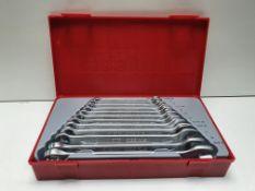 Teng Tools 12 Piece Chrome Vanadium Combination Spanner Set