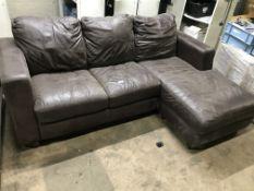 3 Seater Recliner Leather Sofa   ZERO VAT