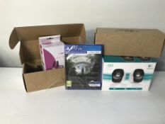 Various Tech Items   PS4 Game   Speakers   Walkie Talkies   ZERO VAT
