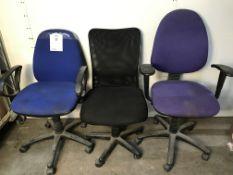 3 x Swivel Office Chairs