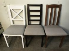 3 x Wooden Dining Chairs