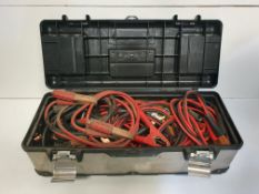Tool Box Filled w/ Jumper Cables