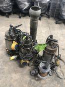 3 x Various Submersible Drainer Pumps   Spares & Repairs