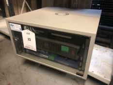 Glass Fronted Server Cabinet w/ Contents | ** NO KEY **