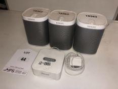 3 x Sonos Play 1 Speakers