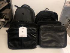6 x Various Laptop Bags/Rucksacks