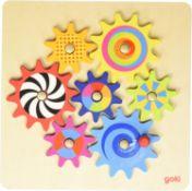 19 x Goki Tandwiel Puzzel cogwheel game  4013594585309