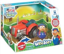 2 x Character Options Kids Weebledown Farm Wobbily Tractor And Farmer |5029736054755