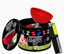 "5 x Diabolo + Aluminium Poles + Online Video All in a Elegant Tin Jar – ""The Latest Diabolo Juggling"