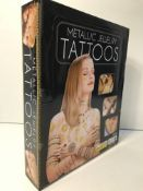 1 x Box of Metallic Jewellery Tattoos | 96 Packs per Box