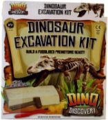 10 x A to Z 7868 Dinosaur Excavation Kit, Multi |5012866078685