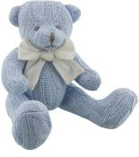 1 x petit cheri sitting knitted bear blue |5017224580572