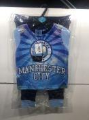 Manchester City Childrens Pyjama Top & Bottoms Set | 3-4 Years