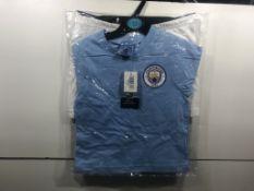 Manchester City Childrens Pyjama Top & Shorts Set | 3-4 Years