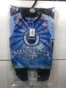 Manchester City Childrens Pyjama Top & Bottoms Set | 5-6 Years