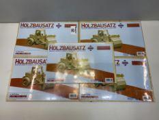 5 x Donau Elektronik M863-5 Roller Wood Design  4006094863503