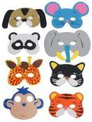 5 x Animal Foam Mask - Pack of 8  
