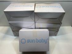 7 x Sun Baby Rubber Car bouncer - blue  5908446781895