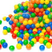 5 x LittleTom 50 Plastic Balls 5.5 cm for Ball Pits Children Kids Baby Pool Balls multi-coloured |42