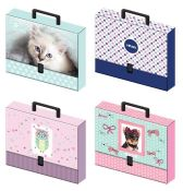 9 x Folder with handle C4 50 mm Girls Interdruk 237385  5902277237385