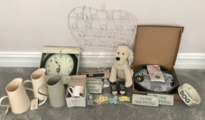 Bulk Lot - Unused Home Furnishings | Accessories & Clocks - Please see pictures - NO VAT ON HAMMER