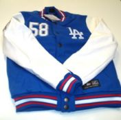 Men's Majestic LA Dodgers Dean Letterman Jacket