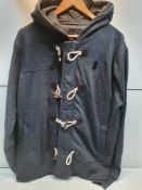 Crosshatch Men's Full Zip Hooded Jacket with Toggles
