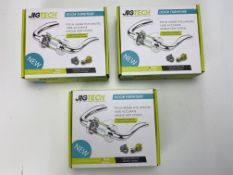 3 x Jigtech JTB72200 Cresta Door Handles Pack