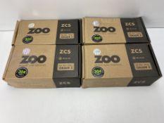 4 x Zoo Hardware - ZCS030SS 19mm Tubular Return to Door Lever -Push On Rose - Grade 304 Satin Stainl