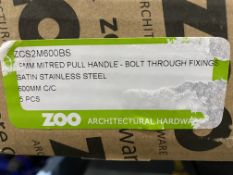 5 x Zoo Hardware ZCS2M600BS 19mm Mitred Pull Handle