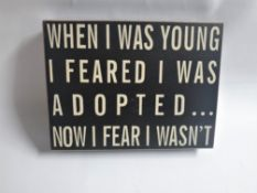 6 x Wall Blocks | 'When I Was Young…'