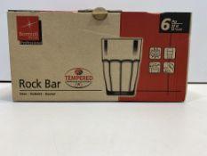 6 Piece Rock Bar Glass Tumblers | X000DPLRVV