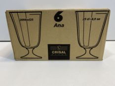 6 Piece Glass Water Goblets | 5601875002820