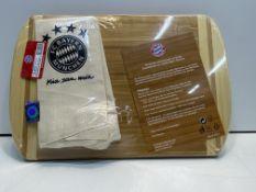 10 x FC BAYERN MUNICH Wooden Bread Board | 4045468250341