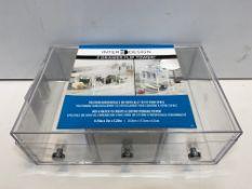 Inter Design 3 Drawer Flip Tower Organiser | B018FCNFA6