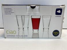 6 Piece Glass Tumbler Set