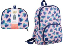 100 x Pretty Useful Foldaway Backpack | Total RRP £1,300