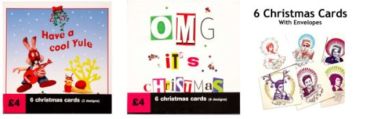 1000 x Packets of Christmas Cards | Assorted Designs