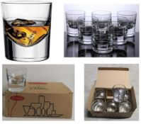 100 x Boxes of Whiskey Glasses w/Heavy Glass Base | 6 pcs per Box | Total RRP £1,000