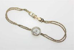 """Goldenes Armband 750/f gest. """"Chopard, Happy Diamond"""", zwei dünne, gekordelte Stränge mit rundem"""