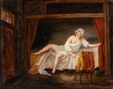 Jacques-Albert SenavePendants: Erotische SzenenÖl auf Holz. 13,4 x 16,3 cm und 13,3 x 16,6 cm.